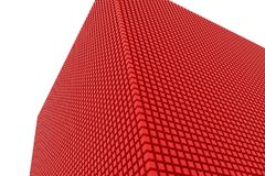 Perspective view of red color grossy cubes or boxes. Shape, pattern, generative, design, dreamy & colorful. Perspective view of red color grossy cubes or boxes Stock Image