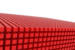 Perspective view of red color grossy cubes or boxes. Shape, pattern, smooth, style, rendering & colorful. Perspective view of red color grossy cubes or boxes Stock Images