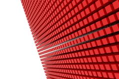 Perspective view of red color grossy cubes or boxes. Shape, pattern, style, rendering, colorful & smooth. Perspective view of red color grossy cubes or boxes Royalty Free Stock Photos