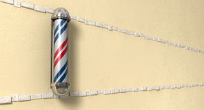 Barbers Poll Mounted On A Wall Perspective Royalty Free Stock Image