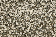 Perspective View On The Rocky Pebble Surface, Stone Background Stock Image