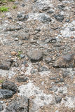 Perspective View On The Rocky Pebble Surface, Stone Background Royalty Free Stock Images