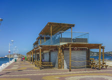 Perspective View of Santa Marta Boardwalk Royalty Free Stock Photo
