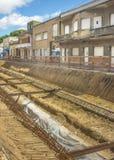 Perspective View Shot of Street Repair in Montevideo Uruguay Stock Images