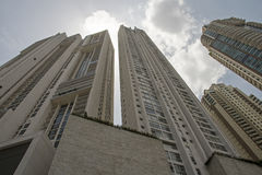 Perspective view of skyscraper complex Royalty Free Stock Photography