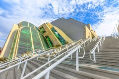 San Diego Convention Center. Perspective view of stairs at San Diego Convention Center located in Marina district near Gaslamp Quarter. San Diego Downtown royalty free stock photography