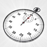Perspective view on stopwatch with shiny flare Stock Photo