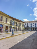 Perspective View Street of Cusco in Peru Royalty Free Stock Image