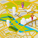 Perspective view street map Stock Image
