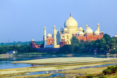 Perspective view on Taj-Mahal stock images
