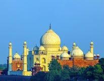Perspective view on Taj-Mahal stock photos