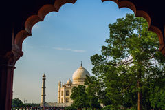 A perspective view on Taj-Mahal mausoleum Royalty Free Stock Images