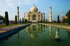 A perspective view on Taj-Mahal mausoleum Stock Photos