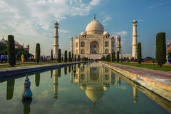 A perspective view on Taj-Mahal mausoleum Royalty Free Stock Photos