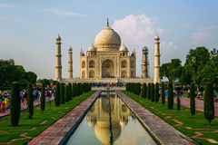 A perspective view on Taj-Mahal mausoleum Stock Photography