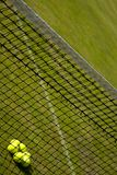 Perspective view of tennis net. Royalty Free Stock Image