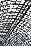 A semispherical ceiling of glass and metal in modern building as background, texture vertical image orientation. Perspective view to semispherical ceiling of stock photos