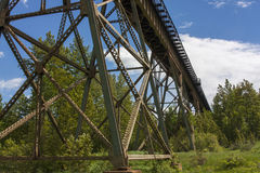 Perspective View of Train Trestle Royalty Free Stock Photography