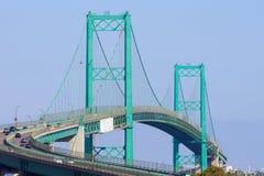 Perspective View of the Vincent Thomas Bridge Stock Photos