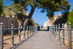 Perspective view of walking track. Italy. Royalty Free Stock Image
