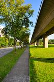 Perspective view of walkway at Yio Chu Kang Royalty Free Stock Images