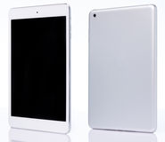 Perspective view of white tablet Stock Photography