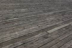 Perspective view of wood or wooden texture. Plank floor boards in diagonal direction Stock Photo