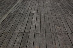 Perspective view of wood or wooden texture. Plank floor boards in one point perspective direction Stock Photo