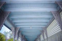 Perspective on the way,bang pa in royal palace, Ayutthaya Thailand. Royalty Free Stock Photos