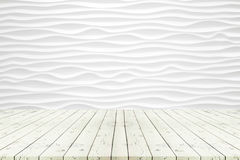 Perspective white wooden table on top over blur modern backgroun stock photography