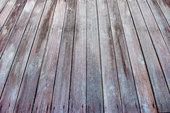 Perspective of  wood plank Royalty Free Stock Photos