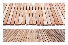 Perspective wood set. For design material isolated on white background Stock Photos