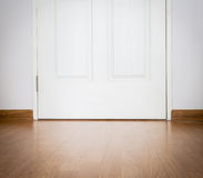 Perspective Wood texture background and door Stock Photo