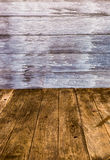 Perspective wood wall Royalty Free Stock Photos