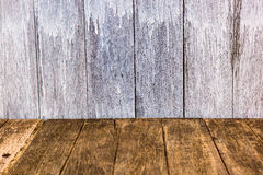 Perspective wood wall Royalty Free Stock Images