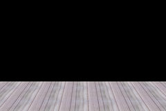 Perspective wood wall floor room wooden design wallpapers and black background Stock Images
