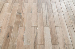 Perspective wooden floor ,image in soft focusing ,vintage tone.  Royalty Free Stock Images