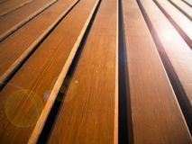 Perspective of wooden line floor Royalty Free Stock Photo