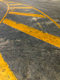 Perspective Yellow curve line Royalty Free Stock Photos