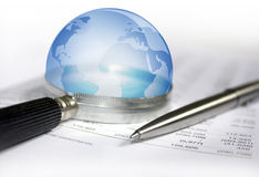Perspectives économiques du monde Photo stock