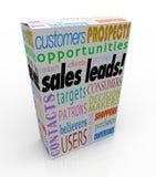 Perspectives Adva concurrentiel de clients de paquet de boîte d'avances de ventes nouvelles Images stock