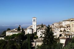 Perspectives d'Assisi, Italie Images stock