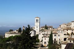 Perspectives d'Assisi, Italie Images libres de droits