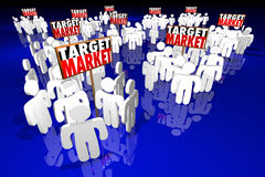 Perspectives de clients de clientes de personnes de cible illustration stock