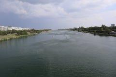 Perspectives de Danube-Île-station photographie stock libre de droits