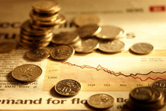 Perspectives financières Photos stock