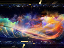 Perspectives of Fractal Realms Royalty Free Stock Photo