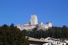 Perspektiv av Assisi, Italien Arkivfoto