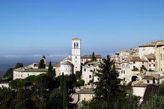 Perspektiv av Assisi, Italien Arkivbilder