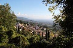Perspektiv av Assisi, Italien Royaltyfri Fotografi